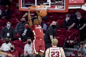 No. 20 Arkansas' big run flusters No. 6 Alabama
