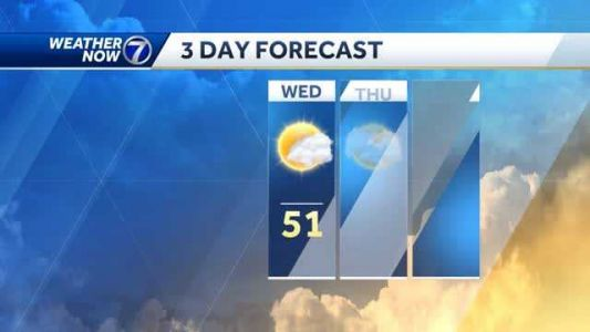 Increasing clouds Wednesday, more colder than average temps