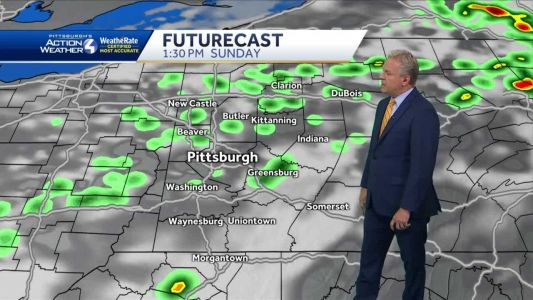 Comfortable conditions tonight, rain showers possible this weekend