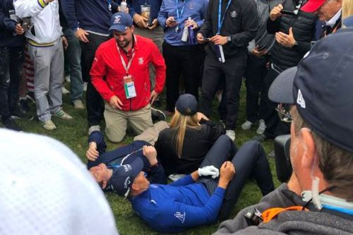 Henrik Stenson lies down with fan he accidentally hit with bad shot
