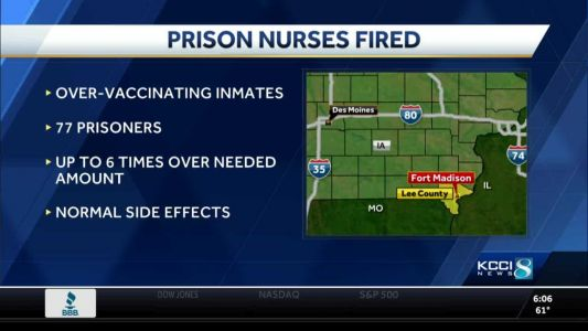 Nurse who gave Iowa inmates vaccine overdoses appeals firing