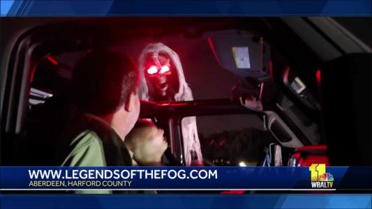 Drive through the 'Legends of the Fog' haunted attraction