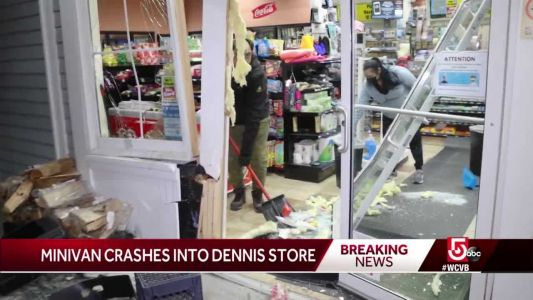 Minivan crashes into store on Cape Cod