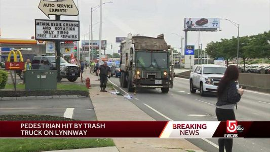 Person hit by trash truck near McDonald's
