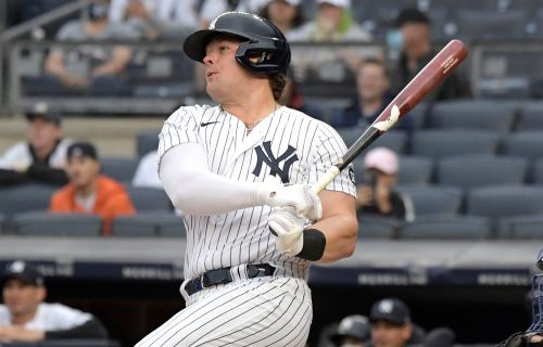 Yankees' Luke Voit homers, triples in first game back since injury