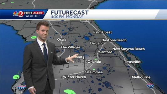 Few PM showers Monday