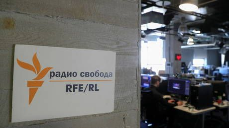 Bailiffs turn up to Moscow offices of US state-funded broadcaster RFERL after court upholds $390,000 in fines for 'foreign agent'