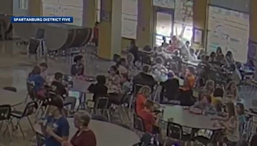 Caught on camera: Teacher's assistant saves choking student