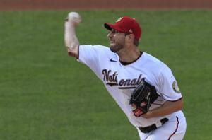 Scherzer exits; Porcello gets 150th win, Mets top Soto, Nats