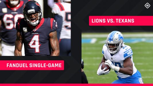 Thanksgiving FanDuel Picks: NFL DFS lineup advice for Week 12 Lions-Texans single-game tournaments