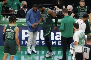 Celtics' Jaylen Brown out for season with wrist injury