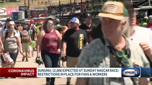 Restrictions in place for fans, workers at upcoming NASCAR race