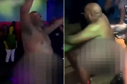 Arkansas cop Cebron Hackett caught dancing in the nude at Little Rock nightclub