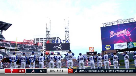 Acuna, Braves give fans plenty to cheer about in return to Truist Park