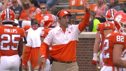 No. 1 Clemson explodes with record-setting first half in rout over The Citadel