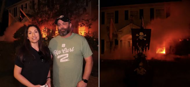 This couple's Halloween decorations in Southern California looked so realistic that neighbors called 911