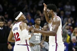 Embiid has 39, powers 76ers past Nets in overtime, 112-104