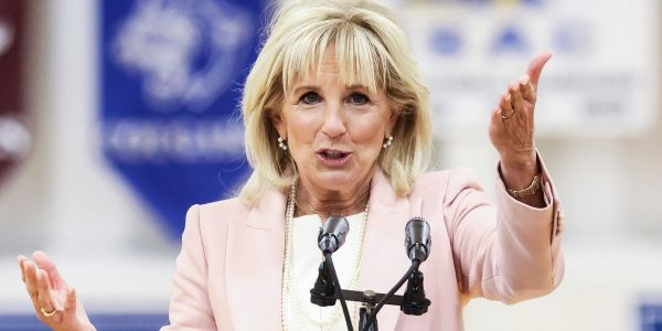 Jill Biden quipped that she felt 'naked' without a face mask after the CDC dropped its mandate for vaccinated people