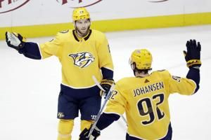 Jarnkrok's goal, assist lead Predators past Sharks 3-1