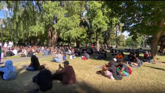 2 groups gather at California Capitol for anti-racism rallies