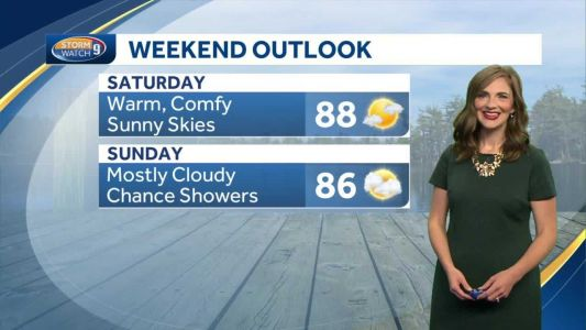 Watch: Warm, comfy and sunny conditions today