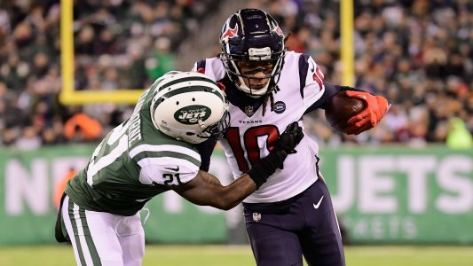 DeAndre Hopkins' two TDs help Texans close in on AFC South title with win over Jets
