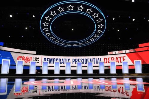 Democrats topping field face tough questions at Ohio debate