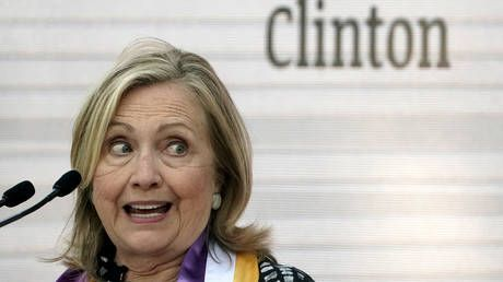 'Zero self-awareness': Hillary Clinton walloped by critics after saying 'one man's ego' has imperiled integrity of US 'democracy'