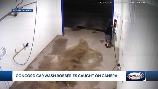 Concord police investigating robberies caught on camera at car wash