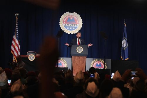 Trump pledges student loan debt forgiveness for disabled veterans as he addresses AMVETS convention