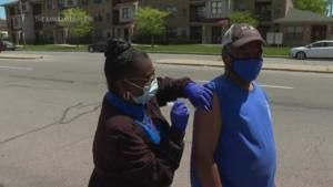 Salvation Army trucks taking vaccines into Detroit