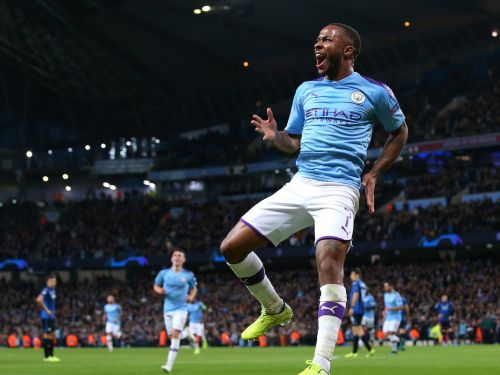 Raheem Sterling scored one of the quickest Champions League hat-tricks in history as Manchester City sank Atalanta 5-1