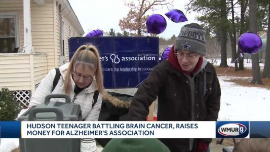 Hudson teen with brain cancer raises money for Alzheimer's Association