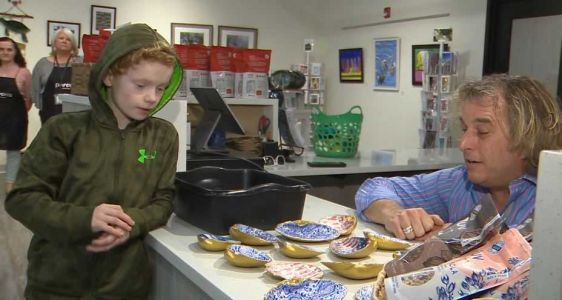 Meet the Mass. 2nd grader creating works of art for sale