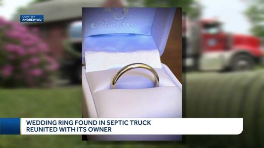 Wedding ring found in septic truck reunited with owner