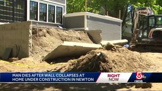 55-year-old worker killed when wall collapses