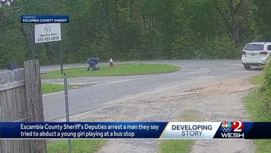 Escambia County deputies arrest man they say tried to abduct girl at bus stop