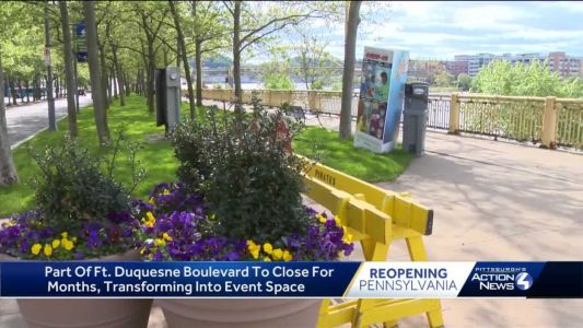 Part of Ft. Duquesne Boulevard to close for months, transforming into event space