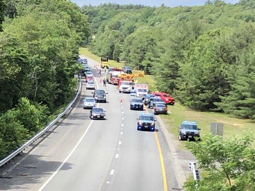 Car crashes into river near Route 3, serious injuries reported