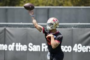 49ers rookie QB Trey Lance ready for work at rookie camp