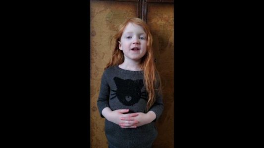 This 5-year-old girl is serious about keeping people safe during the coronavirus outbreak