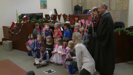 A 5-year-old boy's entire kindergarten class showed up for his adoption hearing