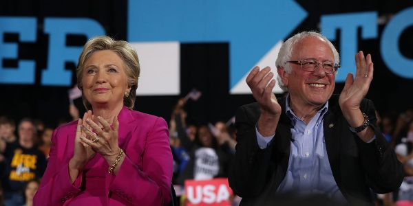Bernie Sanders says the Biden campaign made him feel welcome while Hillary Clinton's 'tolerated' him