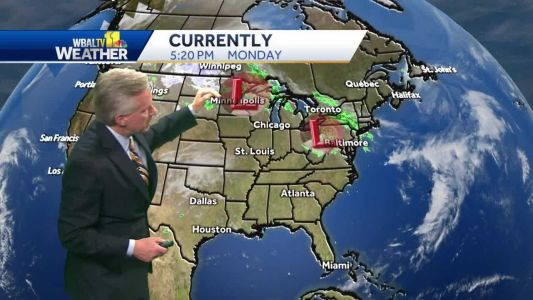 Mostly cloudy but dry Tuesday