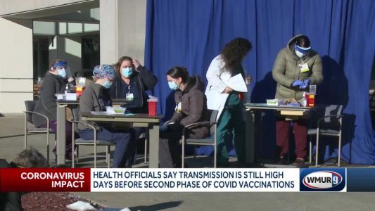 Health officials in NH say COVID-19 transmission still high days before Phase 1B of vaccinations