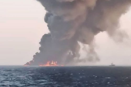 Iran's largest warship catches fire, sinks in Gulf of Oman under unclear circumstances