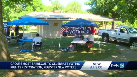 Advocacy groups celebrate voting rights being restored to Iowans with felonies