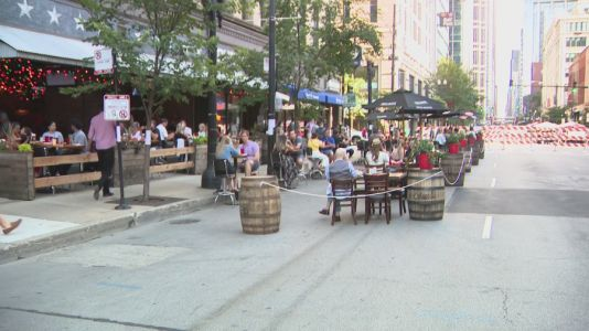 Chicago closes some streets to make room for more outdoor dining