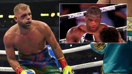 Boxer Dubois 'won't rub it in' to Saunders after rival's mocking comments about quitting with eye injury come back to haunt him