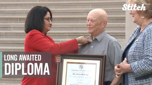 Decades after leaving school to care for his ailing parents, veteran receives his college degree